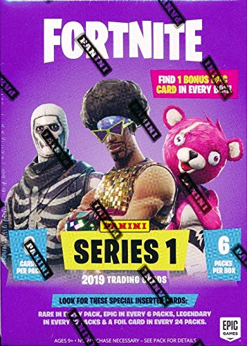 2019 Panini FORTNITE Trading Cards EXCLUSIVE Factory Sealed Blaster Box with 36 Cards with BONUS EPIC CARD! Look for Holofoil Parallels of Uncommon, Rare, Epic & Legendary Cards! Brand New! WOWZZER