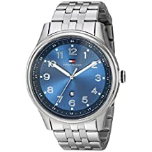 Tommy Hilfiger Men's Classic Stainless Steel Case Blue Dial Watch 1710308