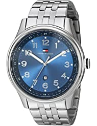 Tommy Hilfiger Mens 1710308 Classic Stainless Steel Blue Dial Watch