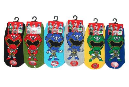 (3 Pair Assorted Power Rangers Socks (Size 9-12) - Kids Cartoon Socks)