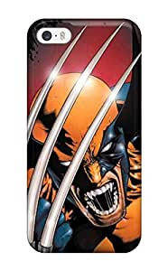 Case Cover For Iphone 5/5s - Retailer Packaging Artistic Wolverine Protective Case