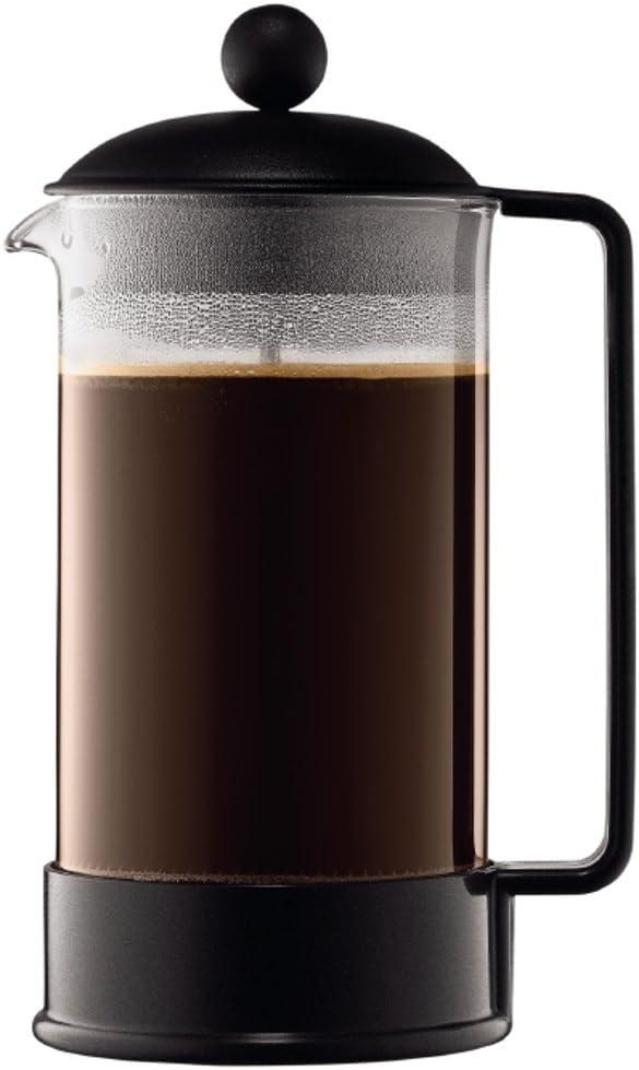 Bodum 1548-01 Brazil Cafeti re Piston 8 Tasses 1 L Noir