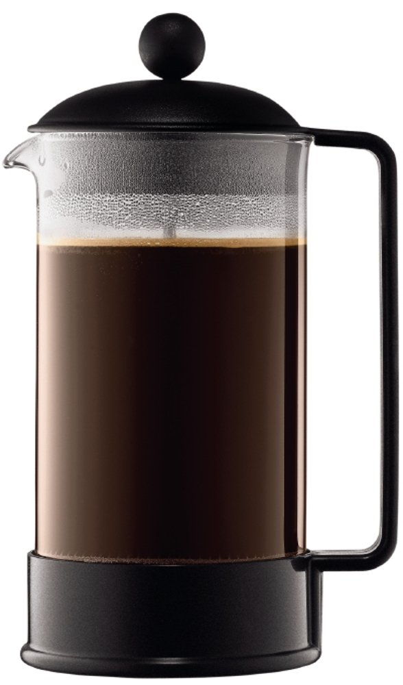 BODUM Brazil 3 Cup French Press Coffee Maker, Black, 0.35 l, 12 oz 1543-01US 1543-01_Schwarz Cafetieres Other Cafetieres