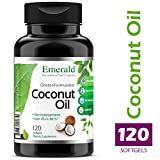 Coconut Oil - 100% Pure Extra Virgin Coconut Oil - Promotes Cholesterol Health, Weight Loss, Immune Support, Brain Health - Emerald Laboratories (Fruitrients) - 120 Softgels