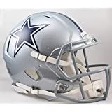 Riddell NFL Dallas Cowboys Speed Authentic Football Helmet, Sliver
