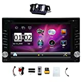 "Versión Upgarde con cámara! 6.2 ""Doble 2 DIN Coche DVD Reproductor de Video CD Bluetooth Navegación GPS Pantalla Táctil Digital Car Radio Estéreo PC PC 800MHZ CPU !!!"