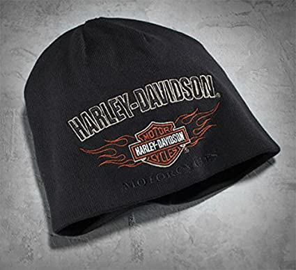 Gorro reversible originalHarley Davidson Flame, Knit Hat 99509 ...