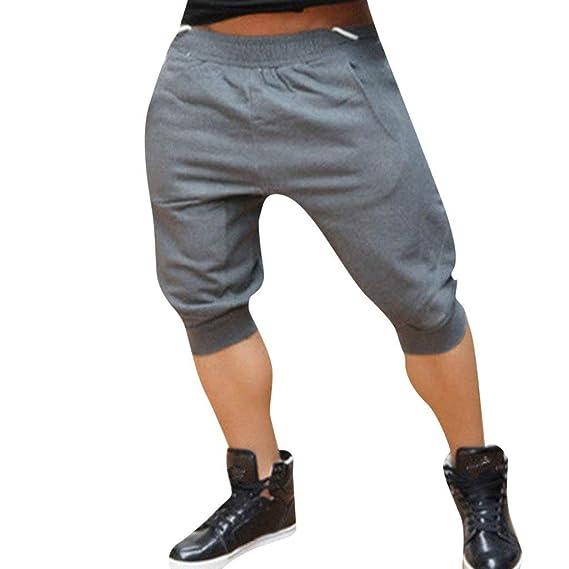 Pantalones Cortos Deportivos de algodón para Hombres Bermuda ...