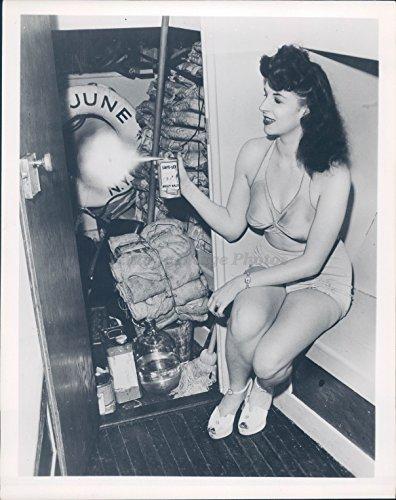 1949 Photo Beautiful Woman Bathing Suit June Spray Safe Lex Can Towels - Suit Ladies Photo