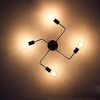Industrial Design Deckenleuchte Schlafzimmer Deckenlampe Moderne Kreative  Persönlichkeit Beleuchtung Restaurant Schlafzimmer Wohnzimmerlampe Einfach  Elegant ...