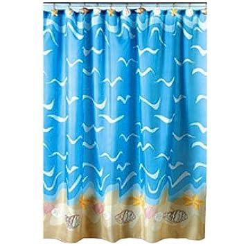 Amazon.com: SEASHELL sea shell beach SHOWER Curtain bathroom decor ...
