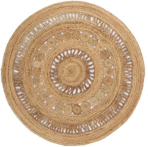 Earth First Jute Stitched 3×3 Round Rug