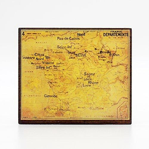 Miniature Antique (Odoria 1:12 Miniature Antique Map with Wooden Fram Dollhouse Decoration Accessories)