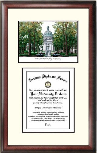 U.S. Naval Academy Scholar Framed Lithograph with Diploma by Landmark Publishing