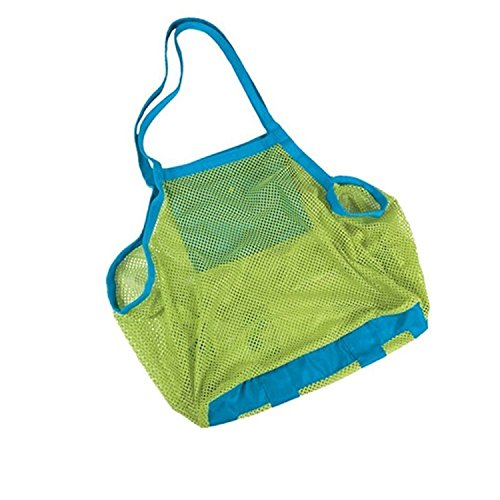 Qzc Sand Away Beach Mesh Bag Extra Large Mesh Bag Tote, Baby Collection Nappy, Organizer Storage Bag for Children Beach Toys, Clothes
