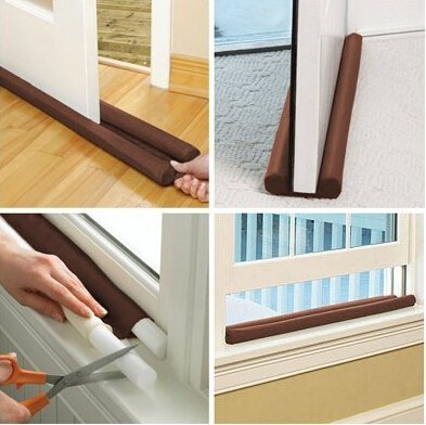 Chocolate Album 12x12 (BSK 85CM Twin Draft Guard Door Window Air Dust Stopper Energy-Saving by BoatShop)