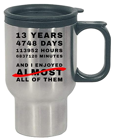 Amazoncom Funny 13th Anniversary Gift Idea For Him And Her