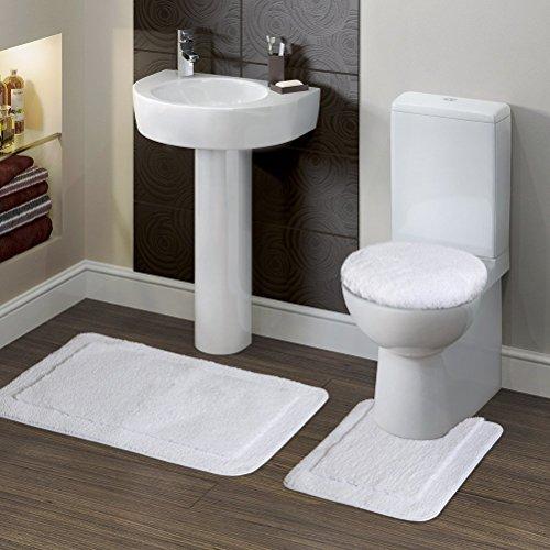 Lifewit Soft 3 Piece Bath Toilet Mat Set 20