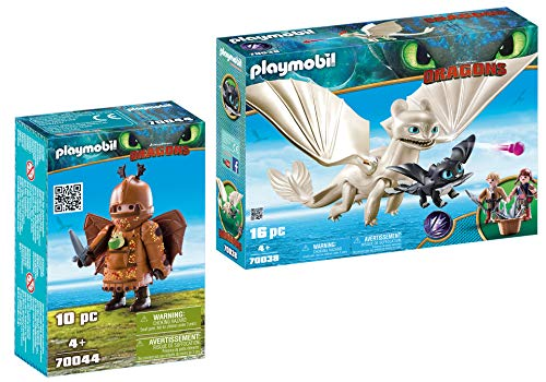- PLAYMOBIL® Fishlegs with Flight Suit and Light Fury with Baby Dragon and Children