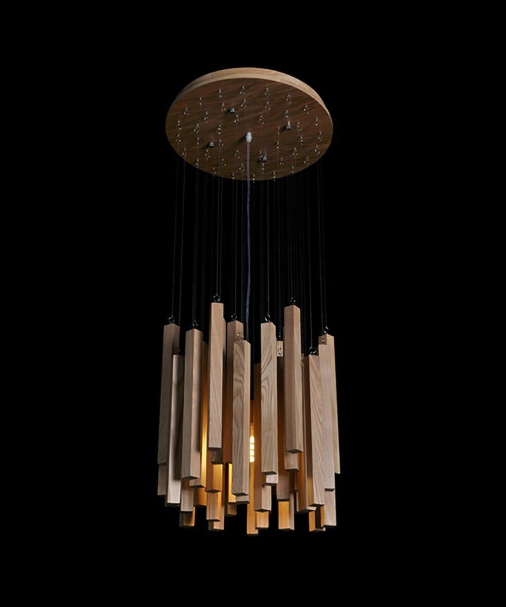 La simplicidad moderna lámpara de techo de madera Luces Creative Art Restaurante Sala Dormitorio Estudio Bar luces decorativas (Color : GGZCAAX)