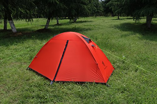 purchase cheap 91b77 37857 GEERTOP 1-Person 3-season 20D Lightweight Waterproof Dome Backpacking Tent  For Camping, Hiking, Travel – Easy Set Up