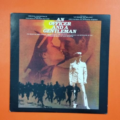 AN OFFICER AND A GENTLEMAN Soundtrack 90017 1 Sterling LP Vinyl VG++ Txtrd Cvr