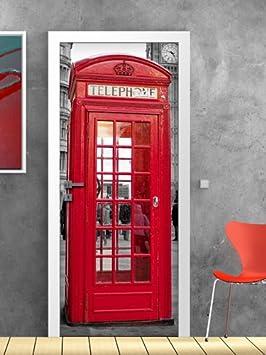 kina PT0012 Decorazione Adesiva per Porte arredo casa - Stampa su PVC Adesivo Bubble Free Misura 60x200 cm