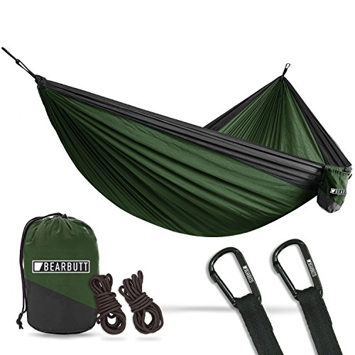 Bear Butt Lightweight Double Camping Parachute Hammock-Large, Portable Two-Person Hammock for Hiking...