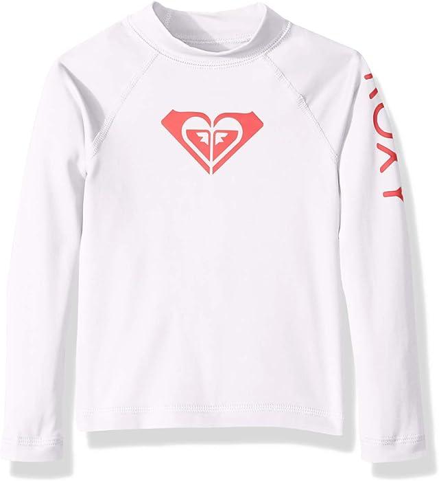 800374e14e0dfa Amazon.com  Roxy Girls  Toddler Whole Hearted Long Sleeve Rashguard ...