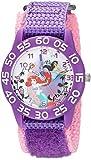 Disney Girl's 'Princess Ariel' Quartz Plastic Casual Watch, Color:Purple (Model: WDS000170)