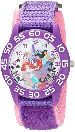 Disney Girl's 'Princess Ariel' Quartz Plastic Casual Watch, Color:Purple (Model: WDS000170)