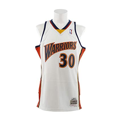 cf9b5a24bc6 Mitchell   Ness Stephen Curry Golden State Warriors NBA Throwback Jersey  White (Small)