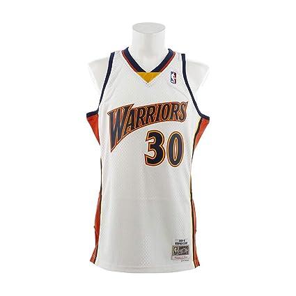 1e0e51d28b7 Mitchell   Ness Stephen Curry Golden State Warriors NBA Throwback Jersey  White (Small)