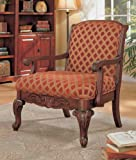 Coaster Traditional Decorative Chenille Fabric Accent Arm Chair