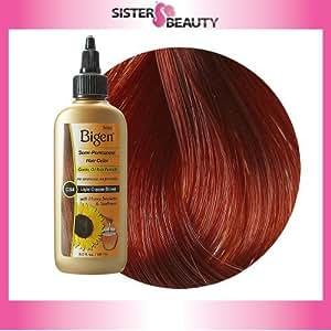 Amazon.com : Bigen Semi Permanent Hair Color, Light Copper Brown : Chemical Hair Dyes : Beauty