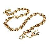 Uniqsum Basic Ring Leash wallet chain Swivel Trigger snap Biker Punk Key chain (Gold)