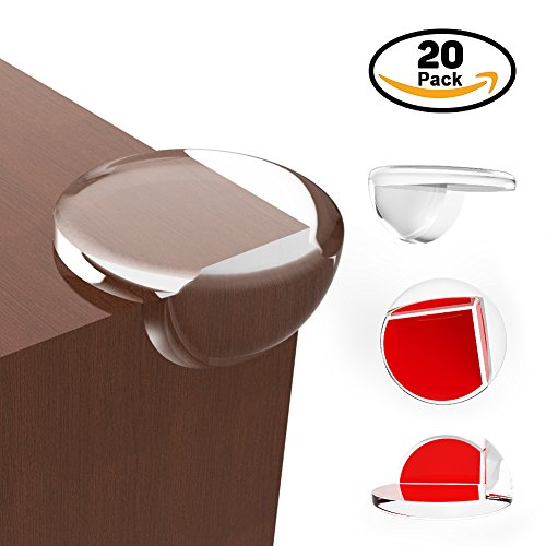 OTBBA Corner Protector(20 Pack) -Baby Proofing Corner Guards with Pre-Applied High Resistant Adhesive, Big Size Bumpers for Furniture Sharp Corners, Corner Covers Suitable for Various Material Surface
