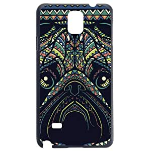 Fashion Personality Vintage Pattern Aztec Animal Dog Hard Back Plastic Case Cover Skin Protector For Samsung Galaxy Note4 N9100 by Alexism