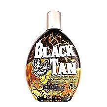 Black & Tan 75x Bronzer Accelerator Indoor Tanning Bed Lotion 13.5 Fl. Oz. (400ml) by Millennium