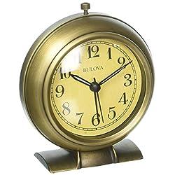 Bulova La Salle Bedside Alarm Clock, Antique Bronze