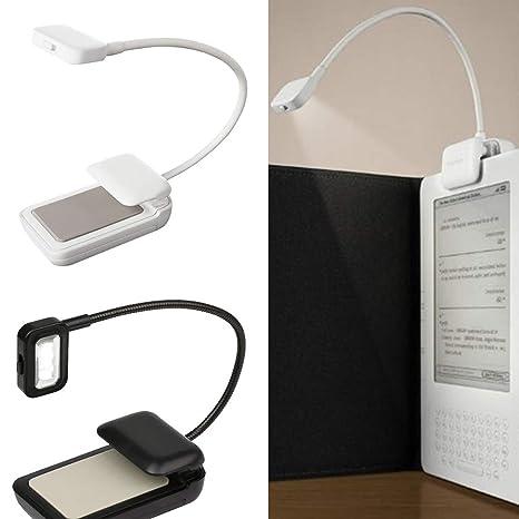Lámpara portátil de 0.5W Mini clip flexible con luz de lectura ...