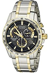 Citizen Eco-Drive Men's AT4004-52E Perpetual Chrono A-T Two-Tone Stainless Steel Watch