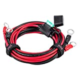 "[UL Listed] YCIND 3/8"" Eyelet Terminal Battery Boost Cable Heavy Duty 30A Fuse 12V/24V 12AWG Cord 6Ft (CAE2E-B2)"