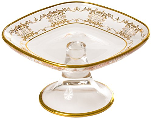 Classic Touch CRGSP26 Cake Stand with 14K Gold Artwork, 7-Inch