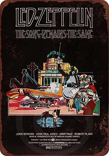(1976 Led Zeppelin The Song Remains the Same reproduction metal tin sign 8 x 12)