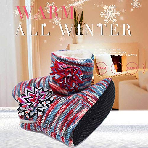 De Pantoufles Maison En Pas Ne Cuir Chaude Glissent La Coton Épaisses D'hiver Les Red À Intérieure Molles w5xSq1dH