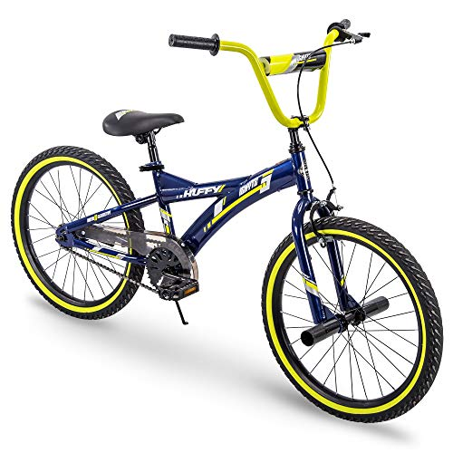 Huffy Kids Bike for Boys, Ignyte 20 inch Yellow & Blue (Renewed)