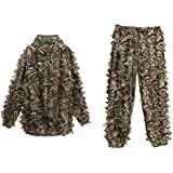 Ghillie Suit Ancheer 3D Camo Suit Airsoft Camouflage Thread Lightweight Military Sniper Clothes for Men and Gamekeeper
