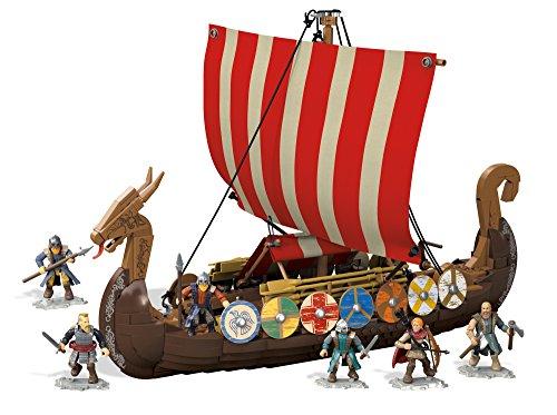 Mega Construx Juegos de Construcción Gran Barco Vikingo