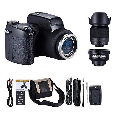 MMUSC Digital Camera 33MP Digital SLR Camera with Wide Angel Lens + Telephotos Lens + Flash + LED Spotlight 24x Optical Zoom and 1080p Full HD Video Commander Starter Kit(D7200) [並行輸入品]   B07H5GG6FL